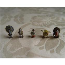 Miniature Lidice Cold Painted Bronzes 5 Birds #2389952
