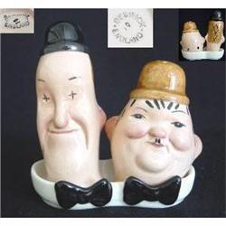 Beswick Laurel and Hardy Condiment Set #2389961