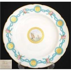 Minton Ribbon Cabinet Plate (c1862) #2389976