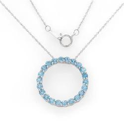 Wonderful Circle Necklace With 1.76ctw Genuine #2390339