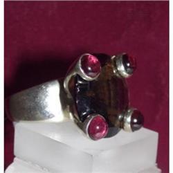 Designer Topaz Sterling tourmaline ring Silver #2390348