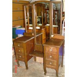 Mirrored Vanity Dressing Table Dresser ca 1920 #2390357