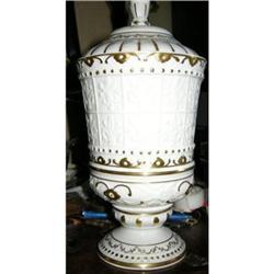 Antique Ginori (Capo di Monte) Covered Urn #2390360