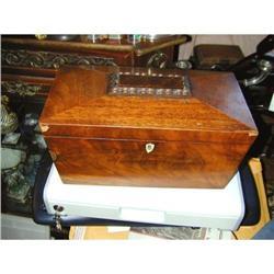 Large George IV Mahogany Tea Caddy #2390363