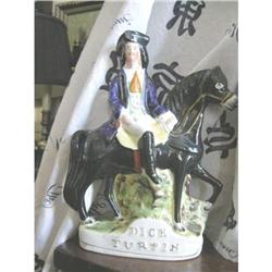 Antique Staffordshire Mounted Dick Turpin #2390364