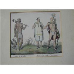 FOUR CANADIAN INDIAN 18TH CENTURY PRINTS  #2390366