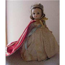 "Doll Hard Plastic 8"" Queen Madame Alexander #2390372"