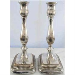 Sheffield Plate Candlesticks. c1850 Pair #2390376
