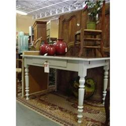 Country table 1 drawer base painted C.1900 #2390458