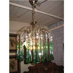 Antique Chandelier Green  #2390468