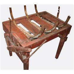 Antique Barrel-Making Table #2390475