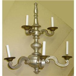 Continental European S-Scroll Sconce 5 Arm Lamp#2390485