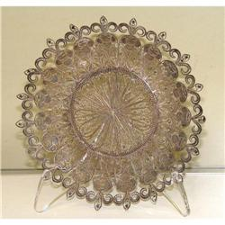 Old 19c Victorian Filigree Silver Plater Plate #2390487