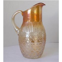 Carnival Glass  Water Pitcher Rare Scales #2353659