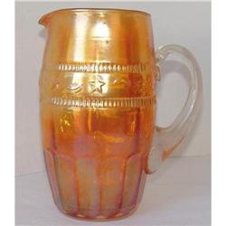 Carnival Glass  Water Pitcher Ganador Pattern #2353660