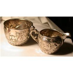Sugar & Creamer, sterling, London 1880s #2353662