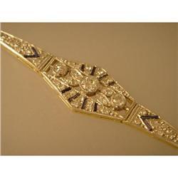 Bracelet  Vintage  18ct.  Saphire  Diamond   #2353669