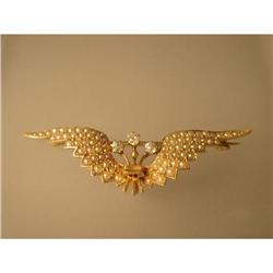 Brooch  Pearl  Diamond  14ct. Gold #2353670