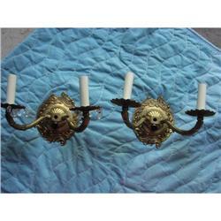 Cast Brass Victorian  Wall Sconces #2353674