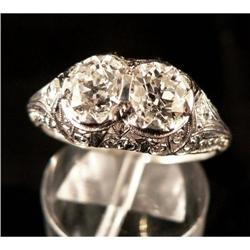 Antique Art Deco Platinum and Diamond Ring #2353678