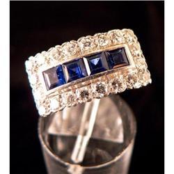 Antique Art Deco Platinum, Diamond & Sapphire #2353679