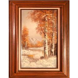 Winter Time  by Wallace - landscape painting #2353685