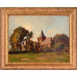 """Country Church"" by Myadert Vandan Reed - oil #2353688"