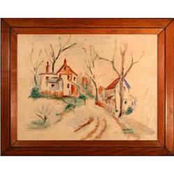 Streetside landscape Canada Mosher watercolor #2353690