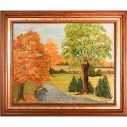 Fall Trees Stream landscape Canada Hooker #2353692