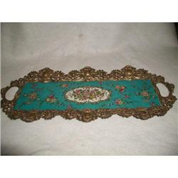 Earthenware Tray Signed Hand Painted #2353713