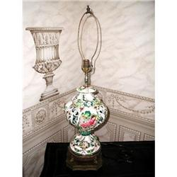 Lamp Capa Di Monte Hand Painted C.1900-20 #2353717