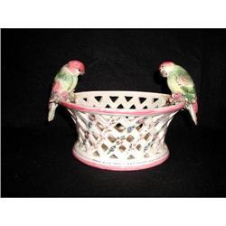 Parrot Porcelain Vase Early Italian Hand #2353720
