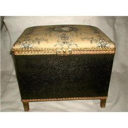 Wicker Bench Trunk Hamper England C.1920 #2353730
