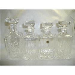 Set Crystal Decanters Italian RCR Excellent #2353734