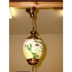 Porcelain Brass Chandelier Hand Painted #2353735