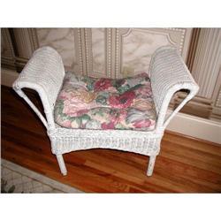 Victorian Wicker  Chair Bench C.1890-1900 #2353736