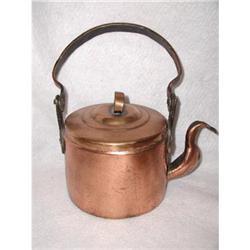 Copper Teapot Tea Kettle C.1900-1910 Hand #2353738