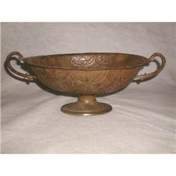 Footed Metal Bowl Planter Italian Early 1900's #2353744