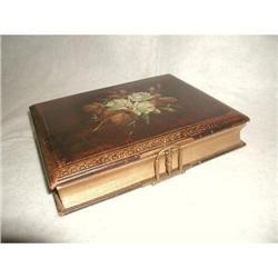 Leather Photo Album Gilt Pages 19th Century #2353745