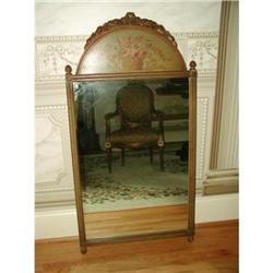 French Tole Mirror Carved Walnut C.1875-85 #2353749
