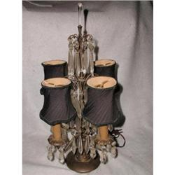 Tiered Prism Lamp With Shades French C.1900 #2353751
