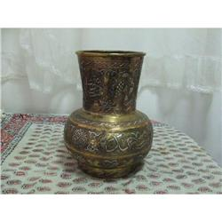 Copper and silver work antique Islamic vase #2353802
