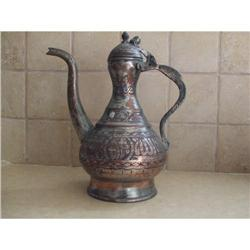 Antique Persian copper Water pitcher (Aftave) #2353806