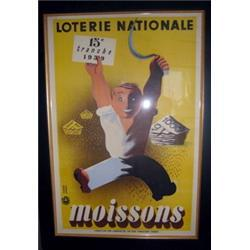 Loterie Nationale Poster - French 1939/Framed #2353819