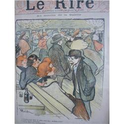 Steinlen Cover from from Le Rire-Original Print#2353823