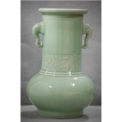 Chinese  celadon  porcelain  vase   #2353863