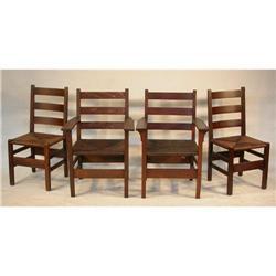 Set of 4 Gustav Stickley Chairs #2353890