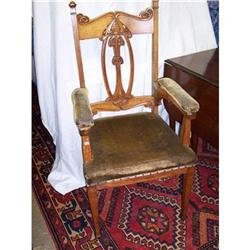 Art Nouveau Oak Arm Chair #2353911