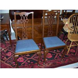 Pair of  American Mahogany Queen Anne Style #2353914