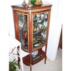 French Mahogany Vitrine Glass Display cabinet #2353928